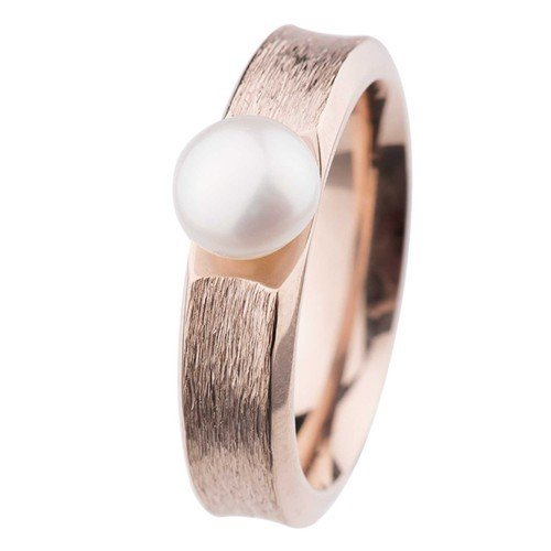 Ernstes Design Ring R373.5 Button-Perle Ø 7mm Rotgold