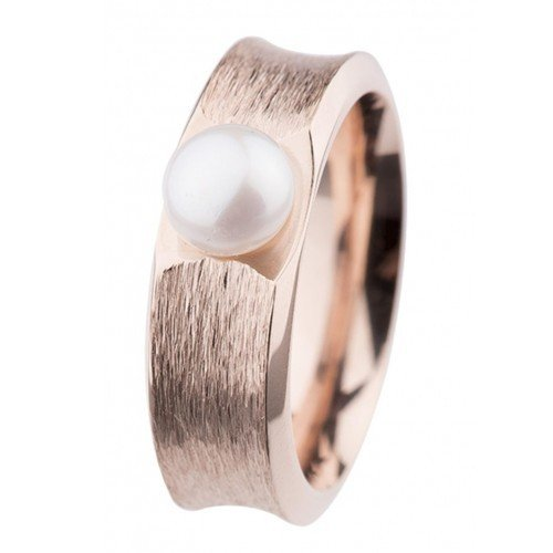 Ernstes Design Ring R373.7 Button-Perle Ø 7mm Rotgold