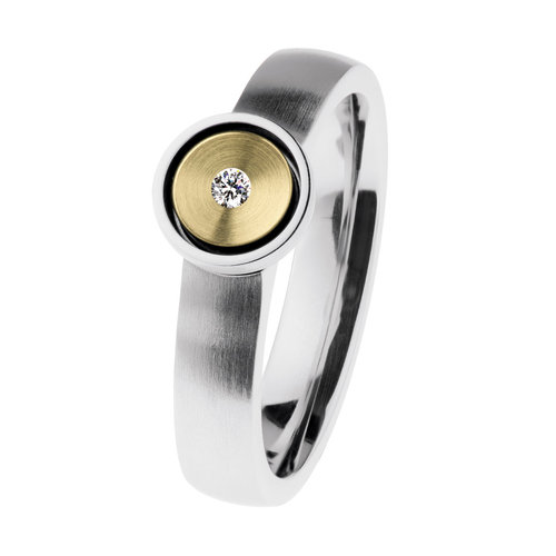 Ernstes Design Ring R523 Brillant 0,02 ct.